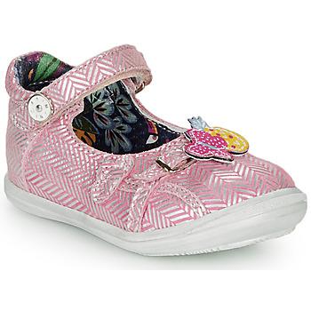 Zapatos Niña Bailarinas-manoletinas Catimini SITELLE Rosa / Plateado