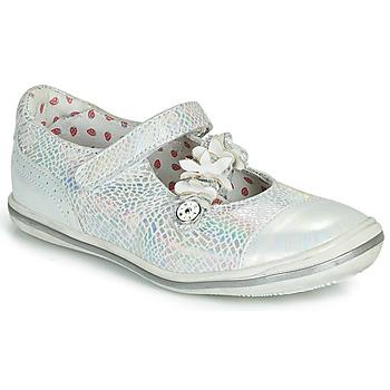 Zapatos Niña Bailarinas-manoletinas Catimini STROPHAIRE Vte / Plateado / Dpf / 2851