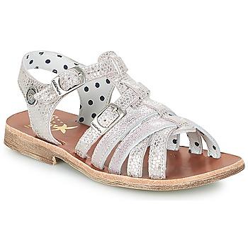 Zapatos Niña Sandalias Catimini SAULE Plateado / Rosa
