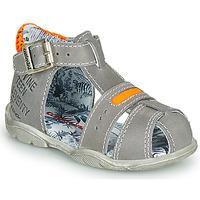 Zapatos Niño Sandalias Catimini SPHINX Nus / Gris-naranjo / Fluo / Dpf / Filou