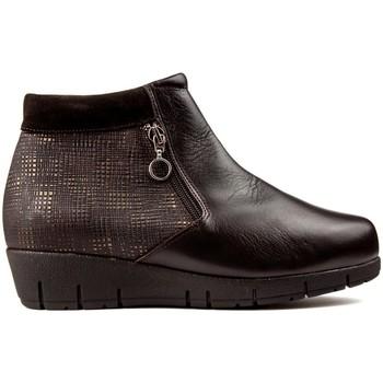 Zapatos Mujer Botines Dtorres BOTINES  THAIS CREMALLERA MARRON