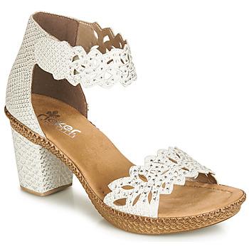 Zapatos Mujer Sandalias Rieker BELALIER Blanco