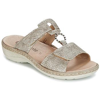 Zapatos Mujer Zuecos (Mules) Remonte Dorndorf REDMON Dorado