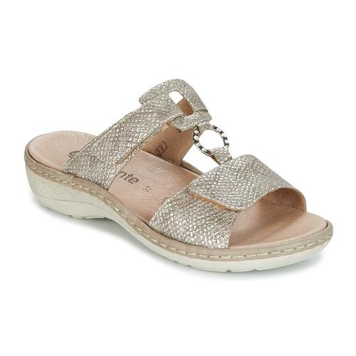 Descuento de la marca Remonte Dorndorf REDMON Dorado - Envío gratis Nueva promoción - Zapatos Zuecos (Mules) Mujer  Dorado