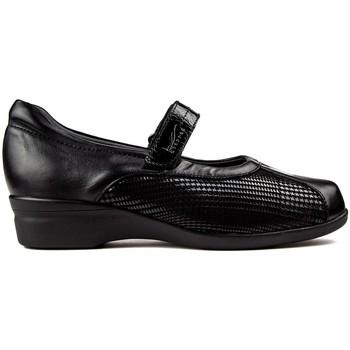 Zapatos Mujer Bailarinas-manoletinas Dtorres BAILARINAS  LIEJA VELCRO NEGRO