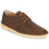 Zapatos Hombre Derbie Clarks DESERT CROSBY Marrón