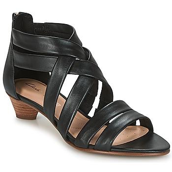Zapatos Mujer Sandalias Clarks MENA SILK Negro / Leather