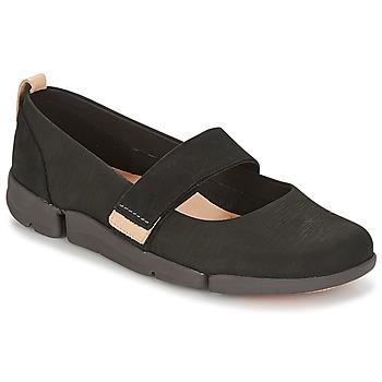 Zapatos Mujer Bailarinas-manoletinas Clarks TRI CARRIE Negro / Nubuck