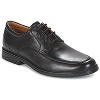 Zapatos Hombre Derbie Clarks UN ALDRIC PARK Negro / Leather