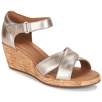 Zapatos Mujer Sandalias Clarks UN PLAZA CROSS Gold / Metalico