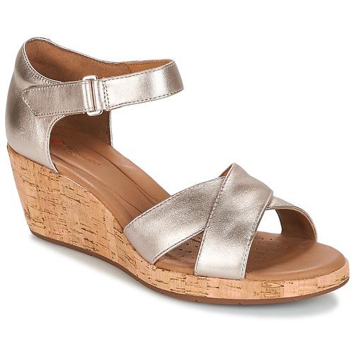 Zapatos de mujer baratos zapatos de mujer Zapatos especiales Clarks UN PLAZA CROSS Oro