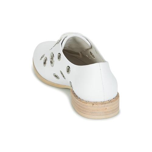 Mujer Zapatos Café Derbie Ivet Blanco Noir 76vYgybf