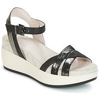 Zapatos Mujer Sandalias Lumberjack BLANCHE Negro / Plateado