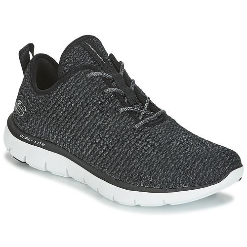 Zapatos promocionales Skechers FLEX APPEAL 2.0 Negro  Cómodo y bien parecido