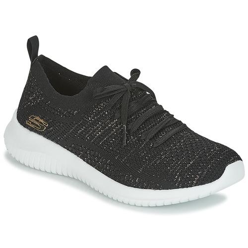 Los últimos zapatos de descuento para hombres y mujeres Zapatos especiales Skechers ULTRA FLEX Negro