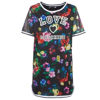 textil Mujer vestidos cortos Love Moschino W5A0302 Negro / Multicolor