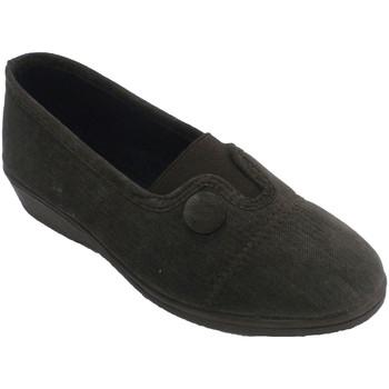 Zapatos Mujer Pantuflas Calzacomodo Zapatilla mujer cerrada elástico en empe marrón