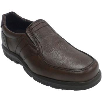 Zapatos Hombre Mocasín Made In Spain 1940 Zapato hombre piso de goma elásticos a l marrón
