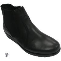Zapatos Mujer Botines 48 Horas Botín mujer cremallera lateral negro