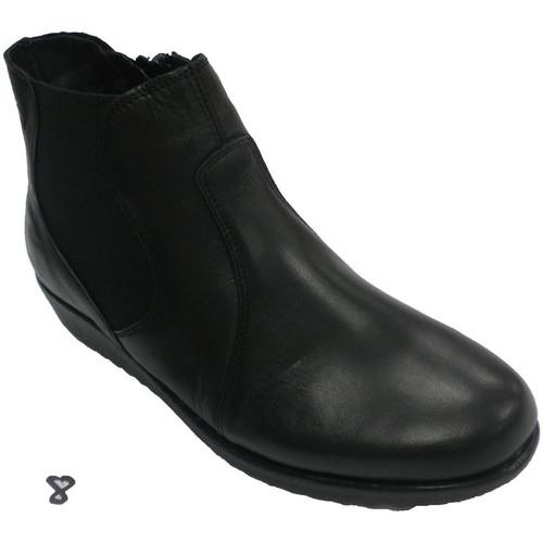 861ee9dd Zapatos Mujer Botines 48 Horas Botín mujer cremallera lateral negro