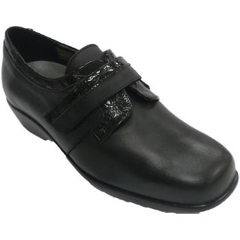 Zapatos Mujer Mocasín Trebede Zapato charol muje con velcro negro