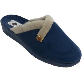 Zapatos Mujer Pantuflas Nevada Zapatilla mujer abierta por detrás estar por casa azul