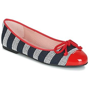Zapatos Mujer Bailarinas-manoletinas Pretty Ballerinas  Navy / Rojo