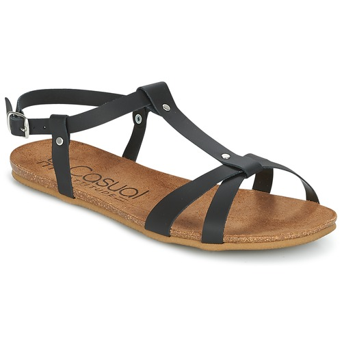 Casual Attitude Negro Mujer Iplem Sandalias Zapatos ZiTluwPXOk