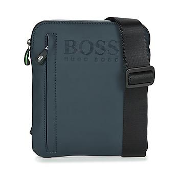 Bolsos Hombre Bolso pequeño / Cartera Hugo Boss Green HYPER T S ZIP Marino / Blanco