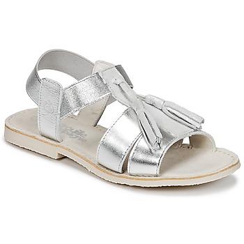 Zapatos Niña Sandalias Citrouille et Compagnie INAPLATA Plateado