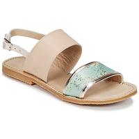 Zapatos Niña Sandalias Citrouille et Compagnie IOCHARLI Beige / Azul