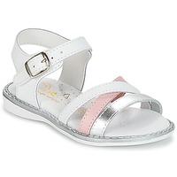 Zapatos Niña Sandalias Citrouille et Compagnie IZOEGL Blanco / Plateado / Rosa