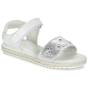 Zapatos Niña Sandalias Citrouille et Compagnie ILEVANDOK Blanco / Plateado