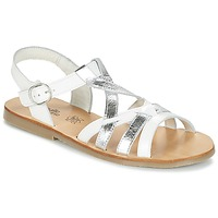 Zapatos Niña Sandalias Citrouille et Compagnie IMONGI Blanco / Plateado