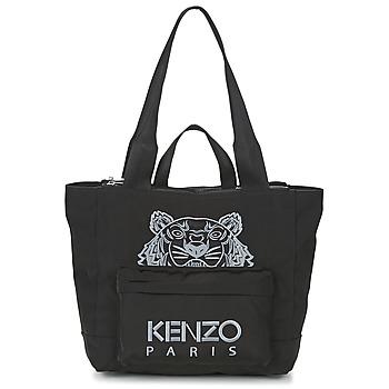 Bolsos Mujer Bolso shopping Kenzo KANVAS TIGER TOTE LARGE Negro