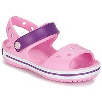 Zapatos Niña Sandalias Crocs CROCBAND SANDAL Carne / Pink / Púrpura