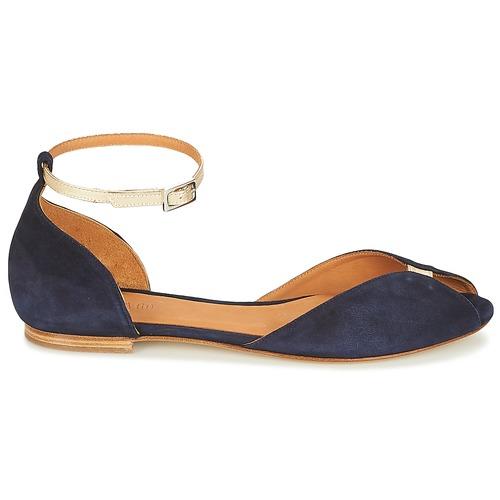 Los zapatos más populares para hombres y mujeres Zapatos especiales Emma Go JULIETTE Marino / Oro