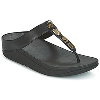 Zapatos Mujer Chanclas FitFlop ROKA TOE-THONG SANDALS Negro