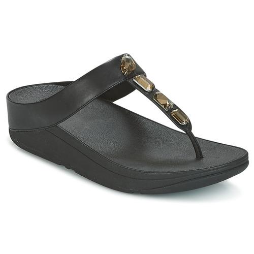 Zapatos promocionales FitFlop ROKA TOE-THONG SANDALS Negro  Zapatos casuales salvajes