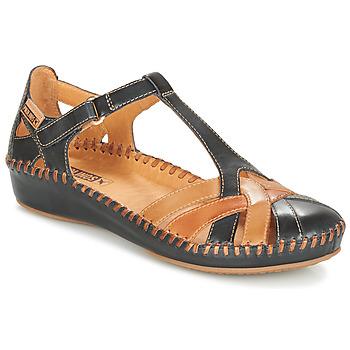 Zapatos Mujer Bailarinas-manoletinas Pikolinos P. VALLARTA 655 Marino / Camel