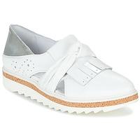 Zapatos Mujer Mocasín Regard RASTAFA Blanco / Plata