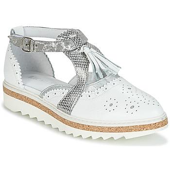 Zapatos Mujer Derbie Regard RASTANU Blanco / Plateado