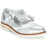 Zapatos Mujer Derbie Regard RETAZO Blanco / Plateado