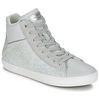 Zapatos Niña Zapatillas altas Geox J KILWI G. H Gris / Plata