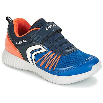Zapatos Niño Zapatillas bajas Geox J WAVINESS B.C Marino / Naranja