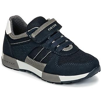 Zapatos Niño Zapatillas bajas Geox J ALFIER B. A Marino / Gris