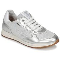 Zapatos Niña Zapatillas bajas Geox J JENSEA G. D Gris / Plata