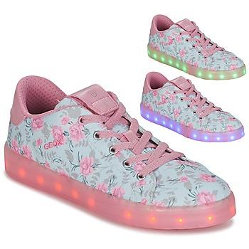 Zapatos Niña Zapatillas bajas Geox J KOMMODOR G. B Azul / Rosa