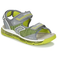 Zapatos Niño Sandalias de deporte Geox J S.ANDROID B.A Gris / Verde