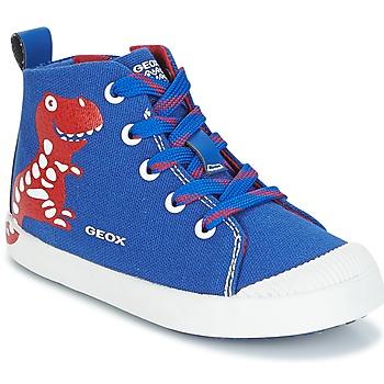 Zapatos Niño Zapatillas altas Geox B KILWI B. F Azul / Rojo